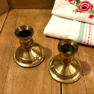 Other - Set of Two Vintage Brass Candle Holders 🕯